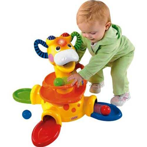 Жираф Держись и вставай Fisher price прокат
