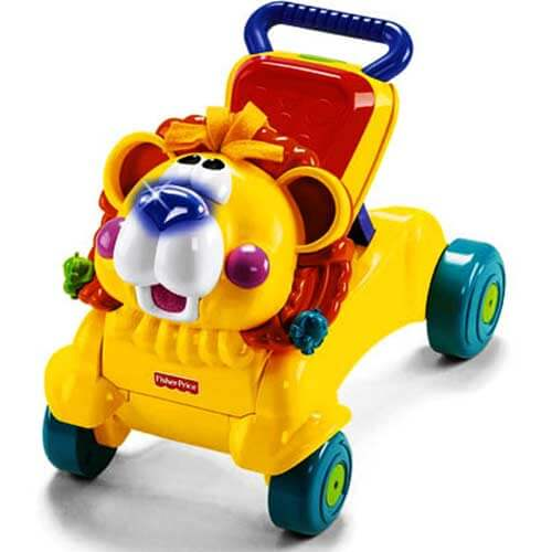 ходилка каталка лев fisher-price
